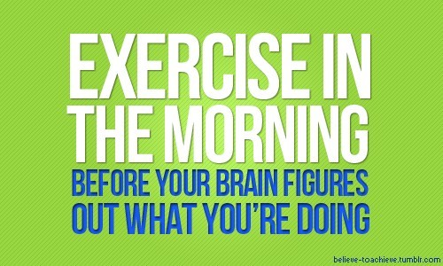 Why most of us exercise in the morning: